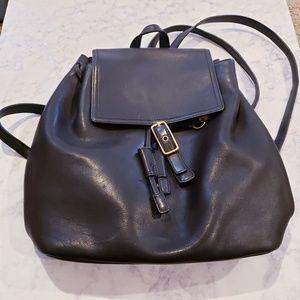 Vintage leather black coach backpack